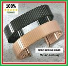 17mm - 22mm BLACK or ROSE GOLD Stainless Steel Expanding,Expander Watch Bracelet