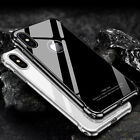 For iPhone X 10 Metal Aluminum Bumper Case Shockproof Gorilla Glass Back Cover