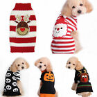 Pet Christmas Sweater Puppy Dog Winter Warm Clothes Striped Knitwear Cat Apparel