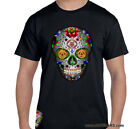 Alcoholics Anonymous - AA SUGAR SKULL 1 - Graphic T-shirt Blk or White S-4X