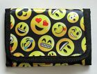 BN Boys or Girls Emoji Motif trifold wallet zip section card and Id sections
