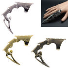 Punk Rings Rock Scroll Joint Armor Knuckle Metal Full Finger Claw Rings QH