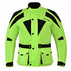 Waterproof Motorbike Motorcycle Protective Cordura CE Armoured Textile Jacket UK