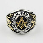 Men's Rings Stainless Steel Free Mason (Masonic) 3 Styles From Canada