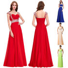 Shiny Beaded Long Chiffon Bridesmaid Formal Ball Gown Party Evening Prom Dresses