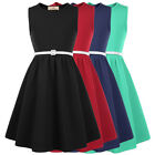 Christmas Girls Kids A-Line Skater Dress Evening Party Formal Dresses Age 6-12Y