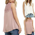 Fashion-Women Summer Lace Vest Top Sleeveless Blouse Casual Tank Tops T-Shirt