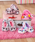 Ty Beanie Boo Slippers For Kids Children Girls Plush Lined House Shoes Pink Zoey