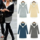 Fashion Ladies Women Casual Long Sleeve Shirt Hoodie Hooded Warm Blouse Tops NEW