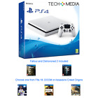 PlayStation PS4 slim 500gb White 3 Game Bundle (Fifa 18, Doom, Assassins Creed)