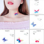 Women transparent Necklace Butterfly Choker Perspective Invisible Fish Line