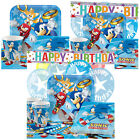 Sonic the Hedgehog Birthday Party Pack Tableware Kits - For 8 or 16 Guests