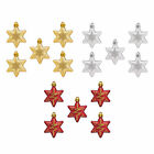 5pcs Christmas Sparkle Stars Hanging Baubles Tree Ornaments Decorations