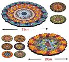 19-31cm Handmade Turkish Moroccan Mosaic Ceramic Dinner Decorative Fruits Plates
