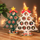 Mini Wooden Christmas Tree Decorations DIY Xmas Table Desk Ornament Gift 1 x