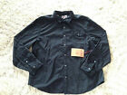 TRUE RELIGION Shirt Long Sleeve Button Down Slim Fit Black Mens Size 3XL