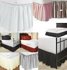 650 TC Cotton SPLIT Corner Ruffle Bed Skirt Solid All Size Drop 19 21 23 SALE