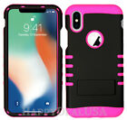 For Apple iPhone X - KoolKase Hybrid Silicone Cover Case - Black (R)