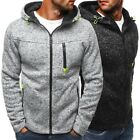 Men's Outwear Sweater Winter Hoodie Warm Coat Jacket Slim Hooded Sweatshirt Hot