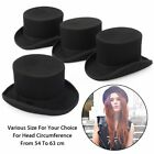 5'' US Stock Fashion Wool Victorian Mad Hatter Performing Top Hat Vivi Magic Cap