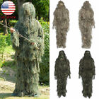 Hunting Ghillie Suit Sniper Camo Army 3D Woodland Camouflage Forest Leaf Poncho