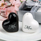 1 set of Ceramic Mr. & Mrs. Salt Pepper Shakers Canister Wedding Party Decor4y