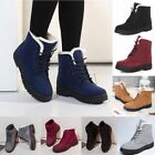 Women Fashion Winter Snow Boots Plush Outdoor Work Shoes Warm Boots Suede Flat