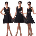 Black Evening Homecoming Formal Cocktail Party Ball Gown Woman Mini Short Dress