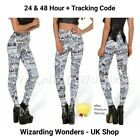 Harry Potter Cosy Leggings Marauders Map Solemnly Swear That I Am Up To No Good