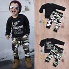 2pcs Toddler Infant Kids Baby Boys Clothes T-shirt Tops +Long Pants Outfits Sets