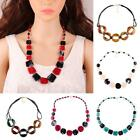 Unique Trendy Colorful Acrylic Beads Collar Choker Pendant Necklace Jewelry CA