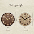 14 Extra Large Round Wooden Wall Clock Vintage Retro Antique  Bentwood Style