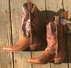 Justin Womens Bent Rail Square Toe Distressed Cowgirl Boots Sz 9 MSRP $190 New