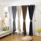 BLOCKOUT BLACKOUT 3 Layers Pure Fabric Thermal Insulated Eyelet Curtains