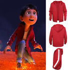 COCO Miguel Red Hoodie Sweater Cashmere Coat With Thickened kid Cosplay Coat Hot