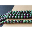 Charm 8mm Natural Faceted Ruby Faceted Round Loose Beads Gemstone