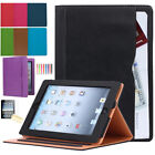 Soft Leather Smart Case Cover Stand Wallet Pocket for Apple iPad 2 3 4 Air 9.7