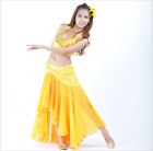 Professional Dancewear Tank Top+Sexy Fishtail Long Skirt Belly Dance Costumes