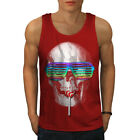Wellcoda Hippie Candy Cool Mens Tank Top, Crazy Active Sports Shirt