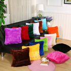 Plush Soft Fur Home Decor Pillow Cover Cushion Decoration 1Pcs Square Furry Set