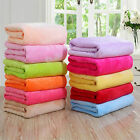 Hot Super Soft Warm Solid Warm Micro Plush Fleece Blanket Throw Rug Sofa Bedding image