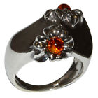 9.85g Authentic Baltic Amber 925 Sterling Silver Ring Jewelry N-A7542