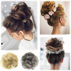 New Pony Tail Hair Extensions Bun Hairpiece Scrunchie As Remy Human Chignon FO