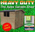 8x8 Heavy Duty Loglap Apex Shed Tanalised Treated T&G Storage Wooden Garden Shed