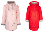 Ex Topshop Hooded Waterproof Raincoat Mac in Red Lilac Pink Size 6 - 12