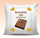 Personalised Chocolate Funny Quote Cushion Cover Christmas Birthday Kids Teens