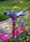 Blown Glass Butterfly Feeder - many colors
