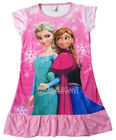 Disney Frozen Elsa Anna Pyjama Enfants Filles Jupe Rose Robe Girl Dress 3-10 ans
