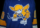 JACK CARLSON MINNESOTA FIGHTING SAINTS WHA RETRO HOCKEY JERSEY SEWN NEW ANY SIZE
