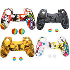 Camouflage Silicone Skin Sleeve Cover Case For Sony Playstation 4 PS4 Controller